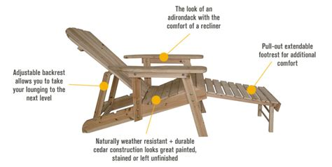Reclining adirondack chair plans Image