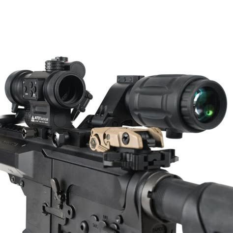 Red Dot Sight With Flip To Side Magnifier