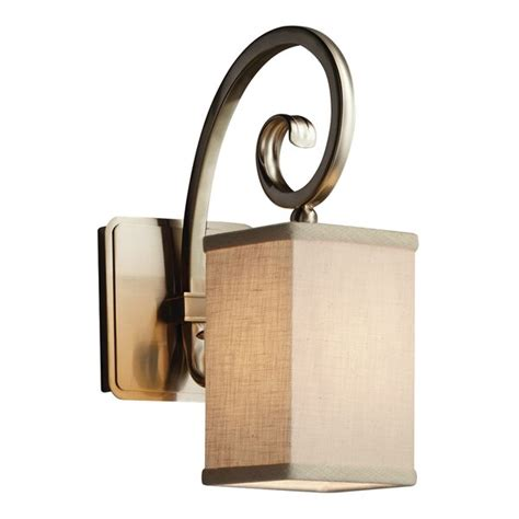 Red Hook 1 Light LED Square w/ Flat Rim Armed Sconces