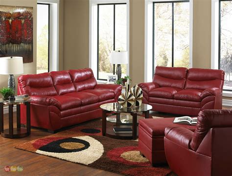 Red Leather Sofa Sets