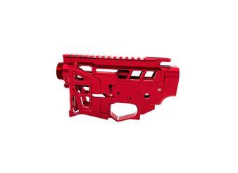 Red Skeletonized Ar 15 Lower