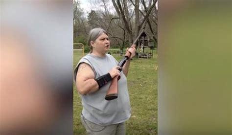 Redneck Kid Shooting Shotgun