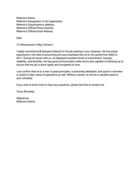 Employer Recommendation Letter Sample from tse1.mm.bing.net