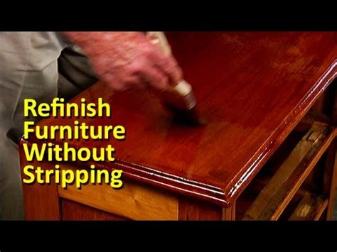 Refinish furniture without stripping Image
