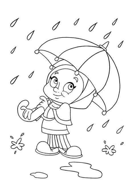 Regen Malvorlage