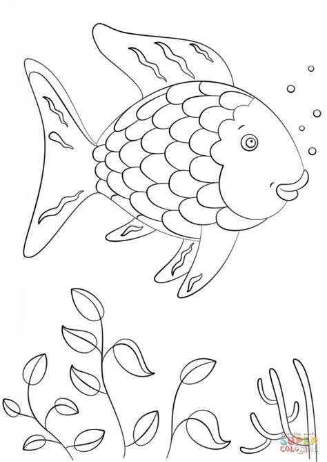 Regenbogenfisch Malvorlagen Kostenlos