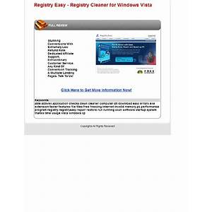 Registry easy registry cleaner for windows vista, xp, 2000, 98 tutorials
