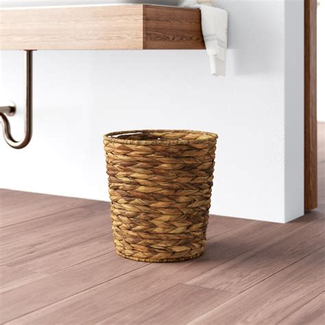 Reina Banana Leaf Wicker 3 Gallon Waste Basket