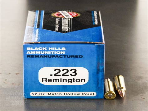Remanufactured Ammo 223 Remington 52gr Match Hollow Point