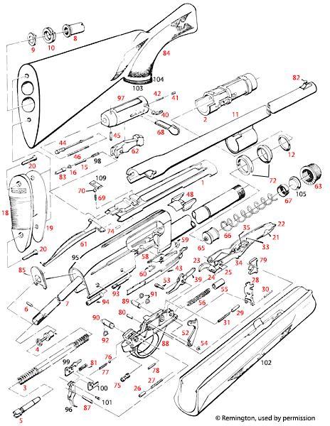 Remington 1100 12 12 Mag Schematic Brownells Uk