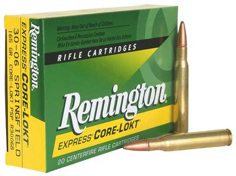 Remington 3006 Springfield 165 Grain Corelokt Pointed Soft