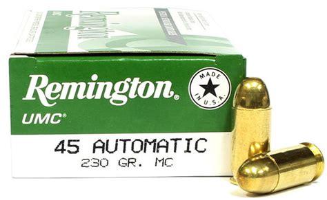 Remington 45 Acp Umc Ammo 230 Gr Mc