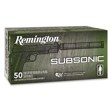 Remington 9mm Subsonic Ammo
