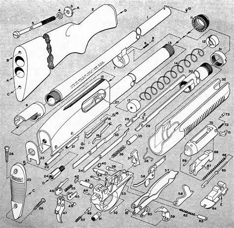 Remington Arms 12 Gauge Shotgun Diagram