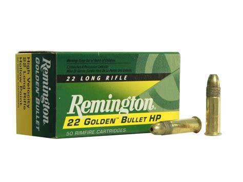 Remington Golden Bullet Ammo 22 Long Rifle 36 Grain Plated