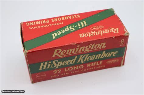 Remington Hi Speed Kleanbore 22 Long Rifle