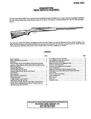Remington Rifle Model 550 1 Field Service Manual