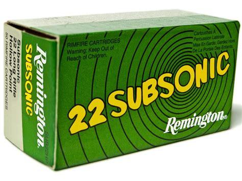 Remington Subsonic 22 Long Rifle Ammo