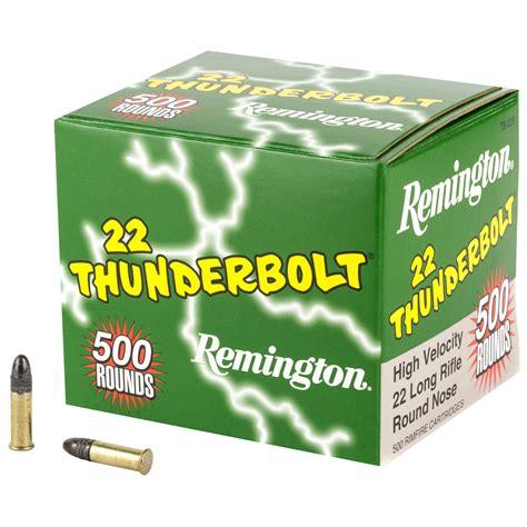 Remington TB22B 22 LR 40 GR Thunderbolt Round Nose 500 RDS