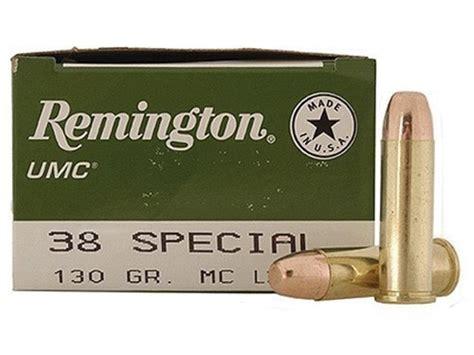 Remington Umc 38 Special Ammo 130 Grain Full Metal Jacket