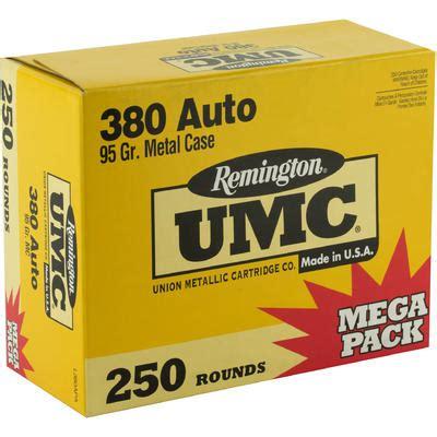 Remington Umc Ammo 380 Acp 95 Grain Full Metal Jacket Case