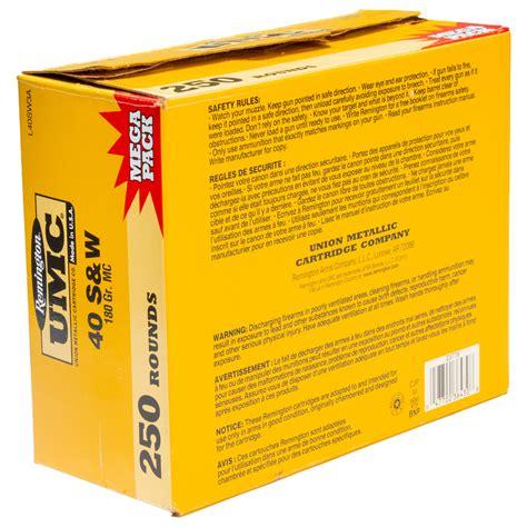 Remington UMC Ammunition 40 SW 180gr MC 250 Round Mega Pack