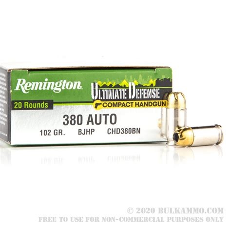 Remington Umc Jhp Ammo In Ruger 380 Lcp