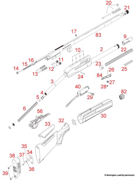 Remington Versa Max Schematic - Brownells UK