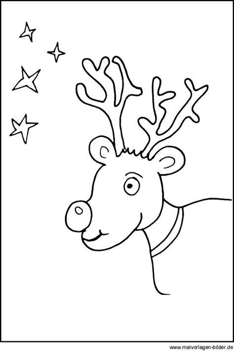Rentier Weihnachten Malvorlage