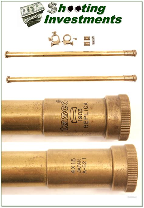 Reproduction Brass Rifle Scope