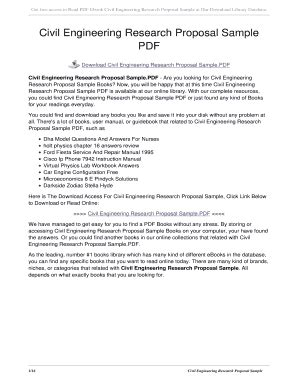 engineering research proposal samples