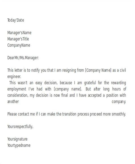 Resignation Letter Format Engineer | How To Write A Basic Cv