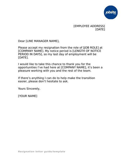 Resignation Letter Examples Career Change | Cover Letter For ...