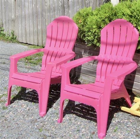Resin pink adirondack chairs Image