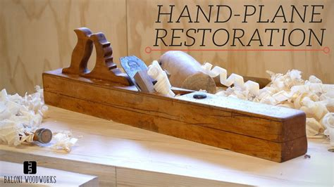 Restoring an old giant wooden hand plane Image