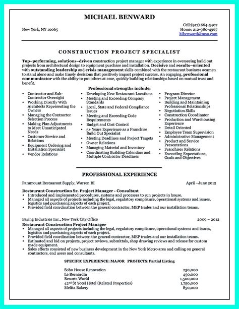 Resume Construction Manager Cover Letter Template Jobs