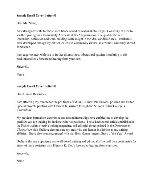 Resume Email Cover Letter Format | Engineering Sample Xeon