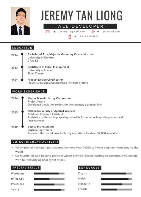Resume Example Bahasa Melayu