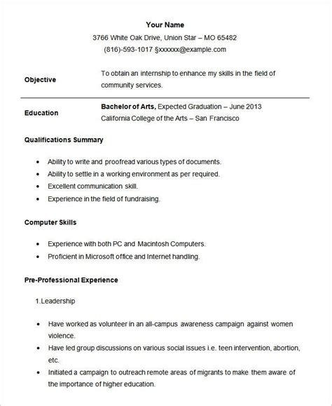 Resume Examples Internship Sample Quote Terms And Conditions