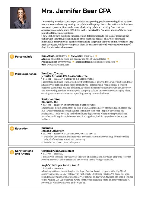 Resume Examples Senior Management | Test Plan Template Unicorn