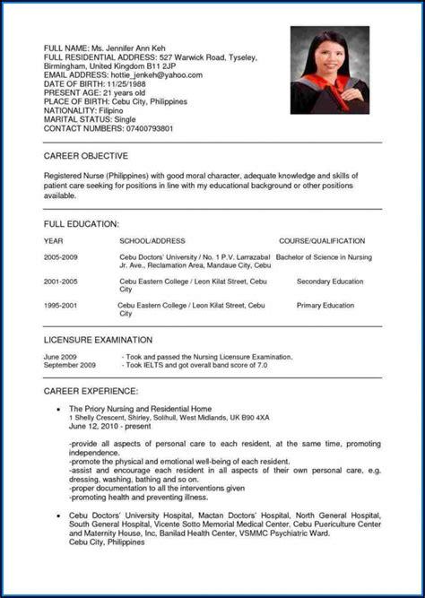 Resume Sample For Nurses Pdf لم يسبق له مثيل الصور Tier3 Xyz