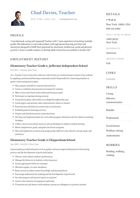 Resume Format For Teachers Download Free Recommendation