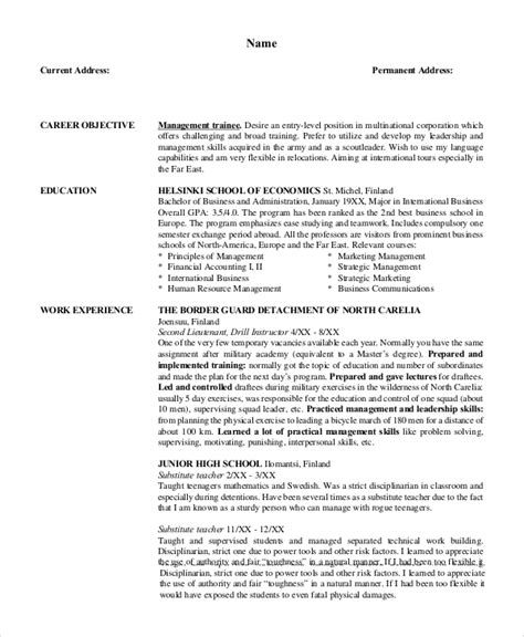 Resume Objective For Management Position CV Templates Download Free CV Templates [optimizareseo.online]