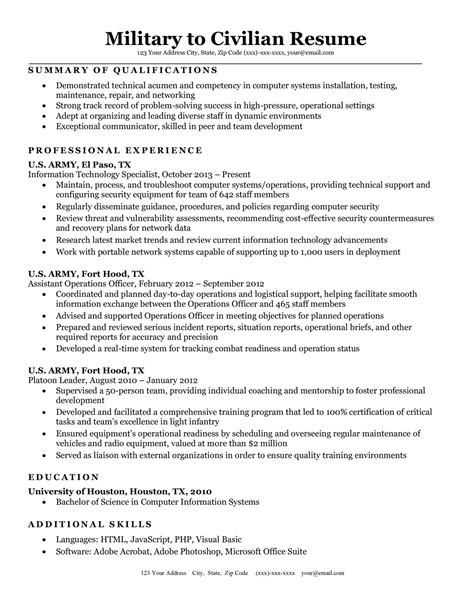 Resume Objective Examples For Military | Marketing ...