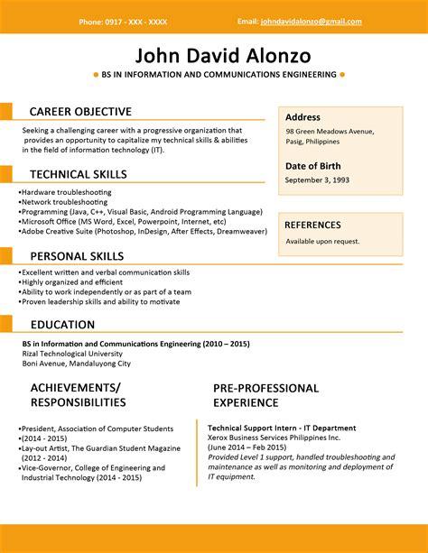 Resume Sample Format Pdf Application Letter For Beginning Teacher
