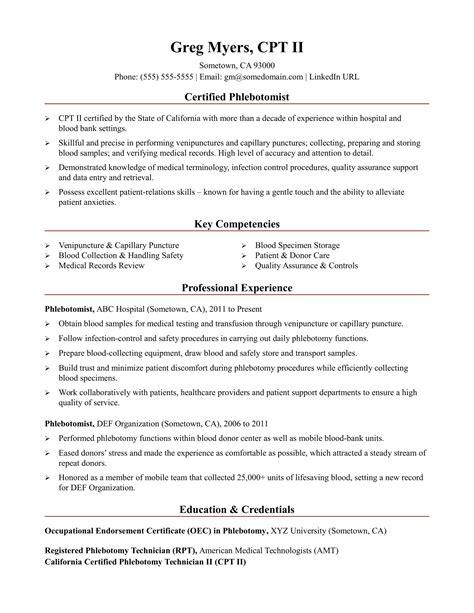 Resume Samples For Phlebotomist | Cover Letter Sample ...