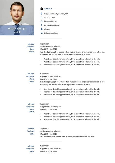 Resume Template Or Example CV Templates Download Free CV Templates [optimizareseo.online]