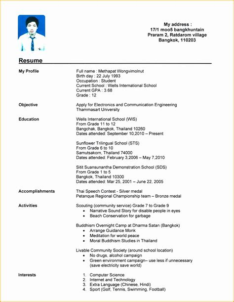 Sample Resume For College Student No Experience Cover Letter Uk Visa Sample
