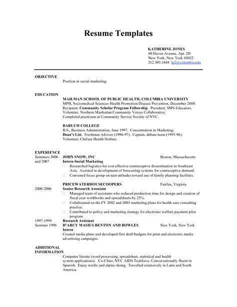 Resume Templates Teenager CV Templates Download Free CV Templates [optimizareseo.online]