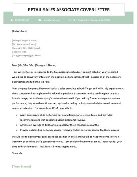 Retail Job Cover Letter Sample | Resume Cover Letter For Lineman